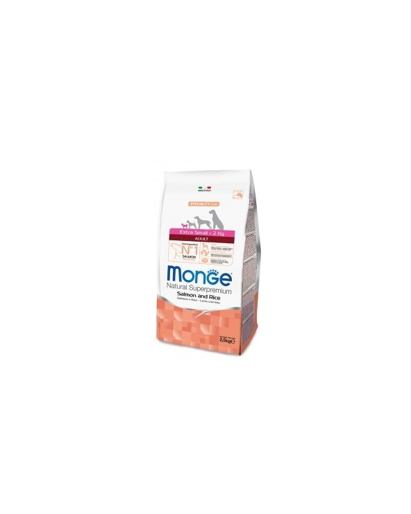 Monge Dog Natural Extra Small Adult Salmone e Riso 800g