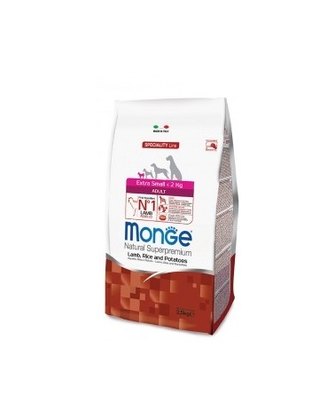 Monge Dog Natural Extra Small Adult Agnello Riso e Patate 800 g