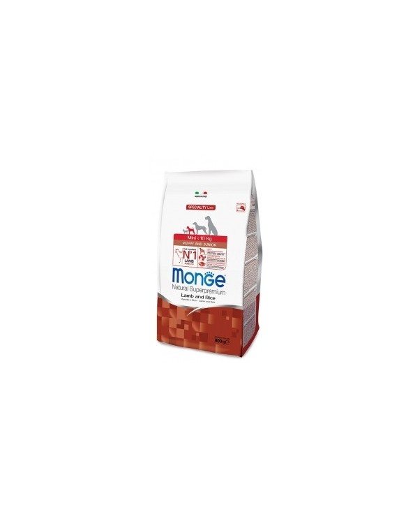 Monge Dog Natural Mini Puppy & Junior Agnello e Riso 800g