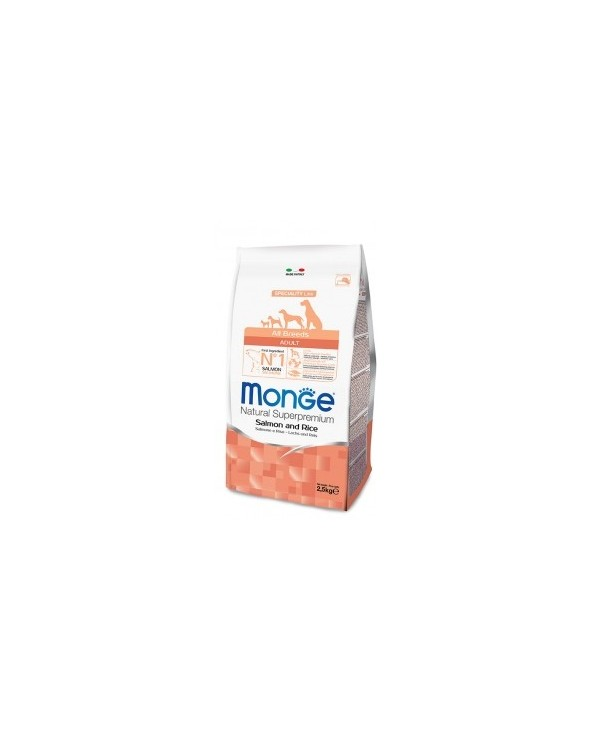 Monge Dog Natural All Breeds Adult Salmone e Riso 2.5kg