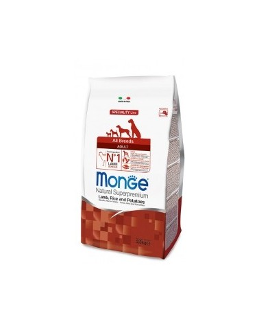 Monge Dog Natural All Breeds Adult Agnello Riso e Patate 2.5kg