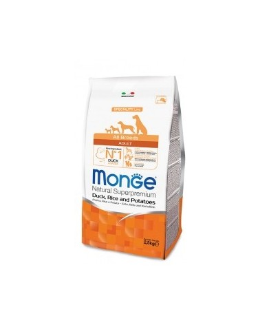 Monge Dog Natural All Breeds Adult Anatra, Riso e Patate 2.5kg