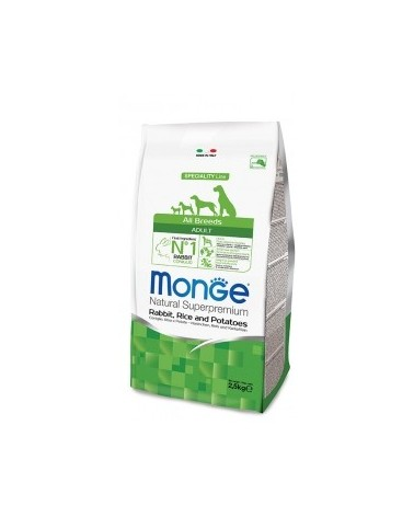 Monge Dog Natural All Breeds Adult Coniglio Riso e Patate 2.5kg