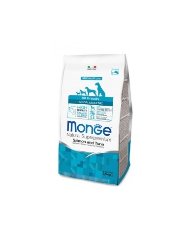 Monge Dog Natural All Breeds Hypoallergenic Salmone e Tonno 2.5kg